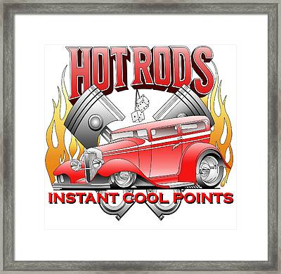 Cool Points Framed Print by Lyle Brown