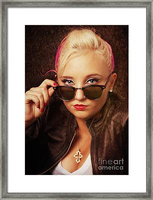 Cool Shades Framed Print by Billie-Jo Miller