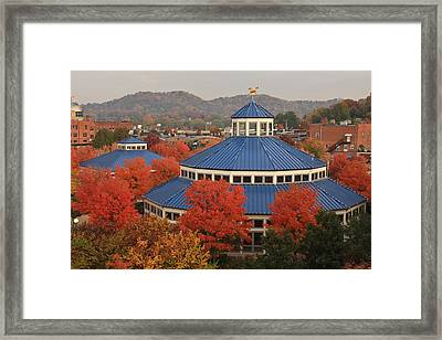 Coolidge Park Carousel Framed Print by Tom and Pat Cory