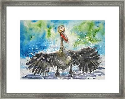 Framed Print featuring the painting Cooling Off by Anna Ruzsan