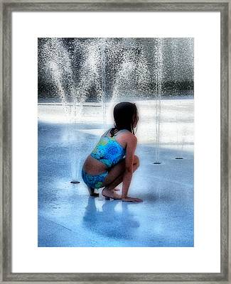 Cooling Off Framed Print by Jennifer Woodworth