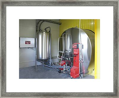 Cooling Tank For Milk Framed Print