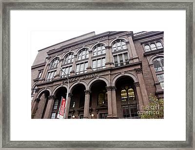 Cooper Union Framed Print by David Bearden