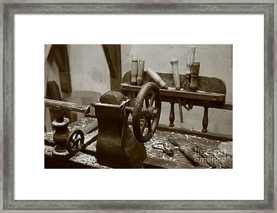 Cooperage Tools Framed Print by Gaspar Avila