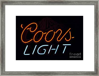 Coors Light Framed Print by Juls Adams