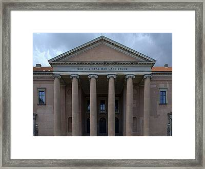 Framed Print featuring the photograph Copenhagen Courthouse by Steven Richman