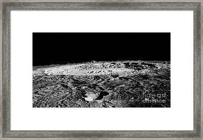 Copernicus Crater On The Moon Framed Print