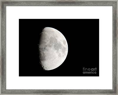 Copernicus In Oceanus Procellarum The Monarch Of The Moon Framed Print by Andy Smy