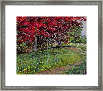 Copper Beeches New Timber Sussex Framed Print