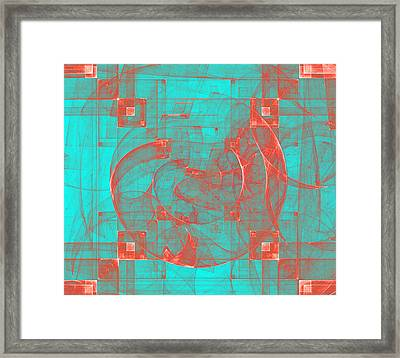 Copper Conception Framed Print