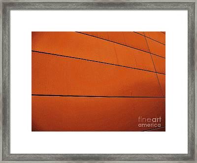 Copper Edge Framed Print by Marsha Heiken