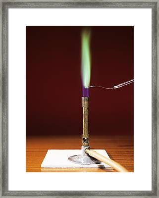 Copper Flame Test Framed Print by Andrew Lambert Photography
