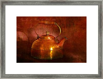 Framed Print featuring the photograph Copper Kettle by James Bethanis