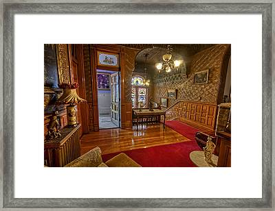 Copper King Mansion 2nd Floor Landing - Butte Montana Framed Print by Daniel Hagerman