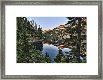 Copper Lake Framed Print