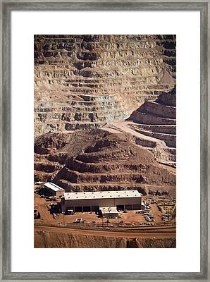 Copper Mine Buildings, Arizona, Usa Framed Print by Arno Massee