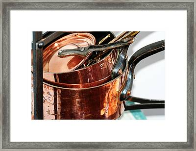 Copper Pots Framed Print