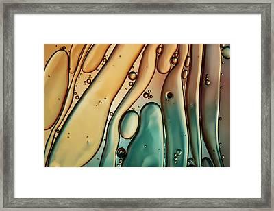 Copper Ripple Framed Print by Sharon Johnstone