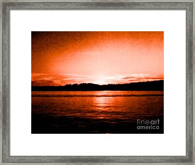 Copper Sunset Framed Print by Marsha Heiken
