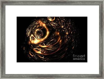 Copper Wire Framed Print by Klara Acel