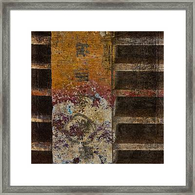 Copperwood Square Framed Print by Carol Leigh