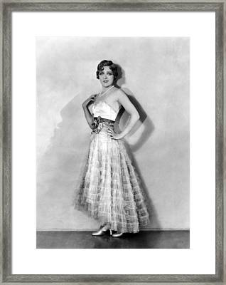 Coquette, Mary Pickford, In A Gown Framed Print by Everett