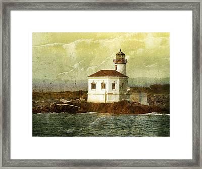 Coquille River Lighthouse Framed Print by Jill Battaglia