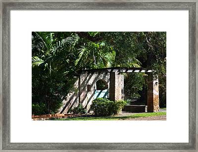 Framed Print featuring the photograph Coral Gables Gate by Ed Gleichman