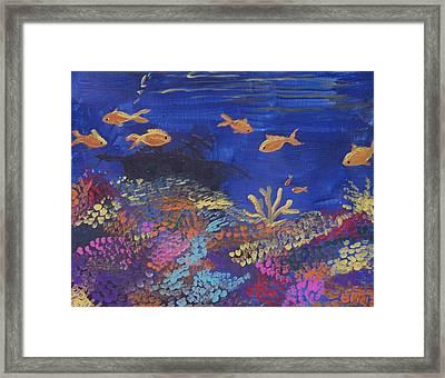Coral Reef Garden Framed Print by Renate Pampel