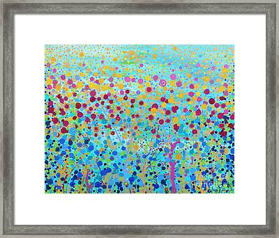 Framed Print featuring the painting Coral Symphony by Stacey Zimmerman
