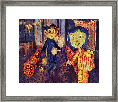 Coraline Circus Framed Print
