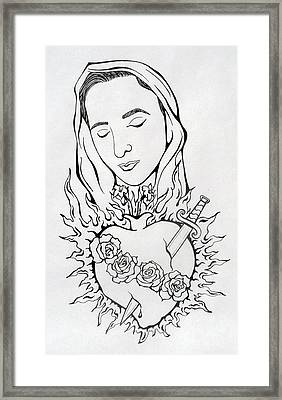 Corazon Inmaculado  Immaculate Heart Framed Print