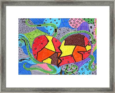 Corazon2 Framed Print by Arena Hernandez