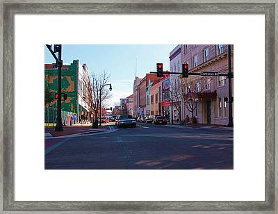 Corcoran And Main  Framed Print