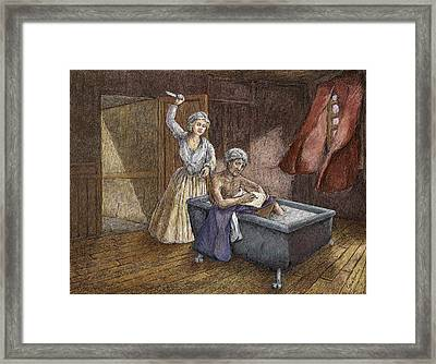 Corday And Marat Framed Print