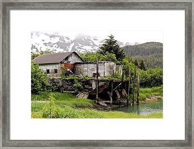 Cordova Barge Framed Print