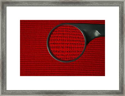 Corduroy Under A Magnifying Glass Framed Print by Linda Wright