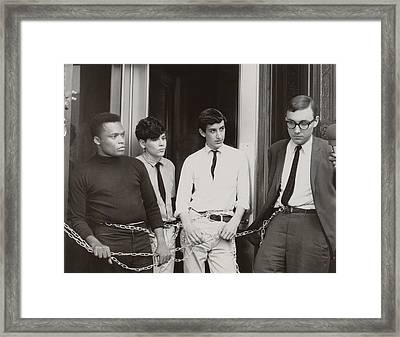 Core And Sncc Protesters. Four Framed Print by Everett