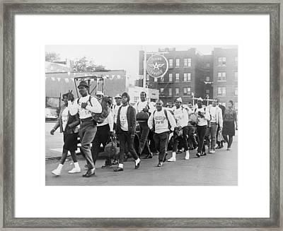 Core Members Swing Down Fort Hamilton Framed Print by Everett