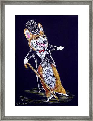 Corgi Fred Astaire Framed Print