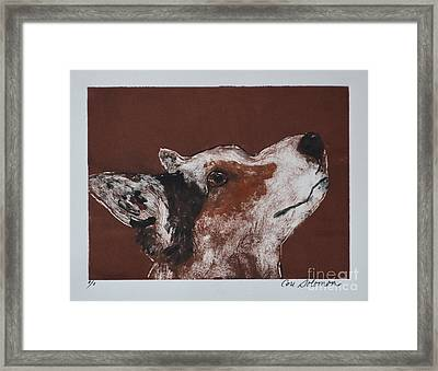 Corgi's High Alert Framed Print by Cori Solomon