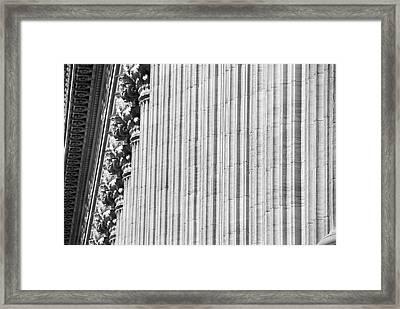 Framed Print featuring the photograph Corinthian Columns by John Schneider