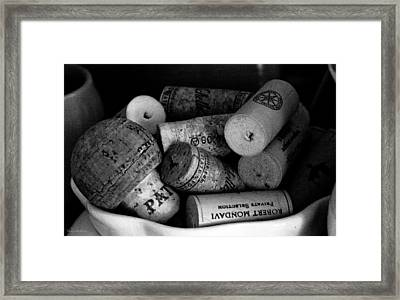 Cork It Framed Print