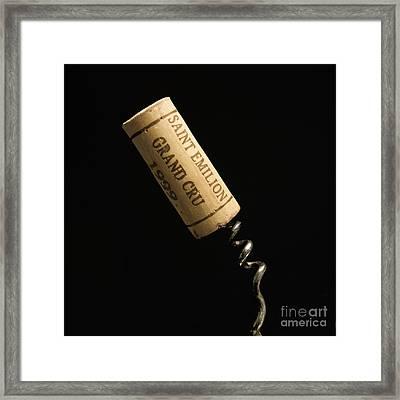 Cork Of Bottle Of Saint-emilion Framed Print by Bernard Jaubert