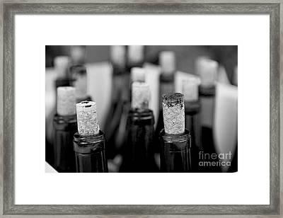 Corked Framed Print by Leslie Leda