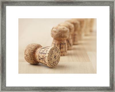 Corks, Close-up Framed Print by STOCK4B Creative