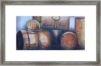Corks Framed Print by Donna Tuten