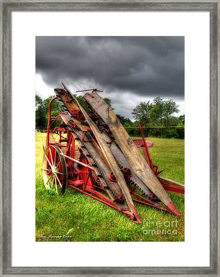 Framed Print featuring the photograph Corn Binder by Trey Foerster