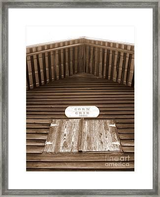 Corn Crib Framed Print by Crystal June Norton