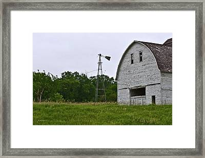 Corn Crib Framed Print by Edward Peterson
